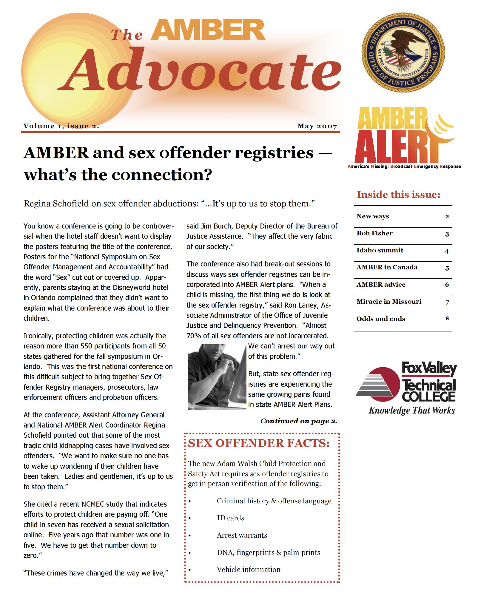 AMBER Advocate 2 cover