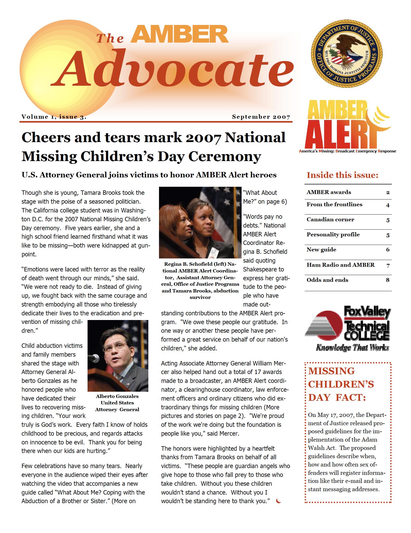 AMBER Advocate 3 cover
