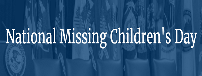 2020 National Missing Children's Day image from the US DOJ website